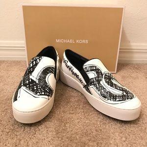 NWT Michael Kors Trent leather slip-on sneakers